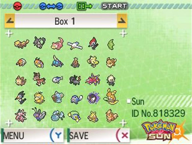 Pokemon Bank Transfer Screen